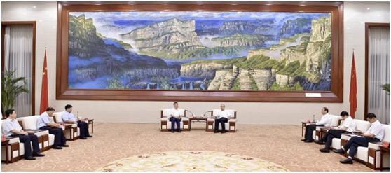 易华录助力雄安新区建设丨中国华录拜会河北省领导