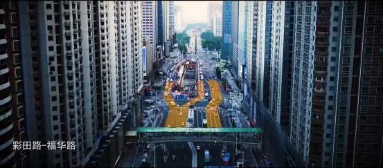 """深圳启用全国首个""""移位左转""""交通组织路口"""